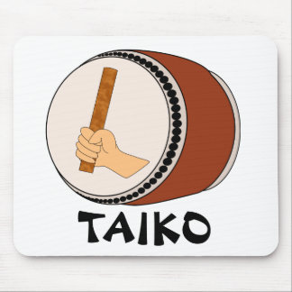 Hand Holding Stick Taiko Drum Japanese Drumming Mouse Pad