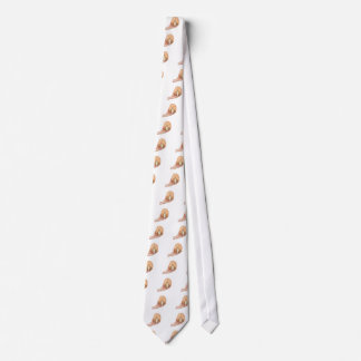 Hand holds model human brain on white background tie