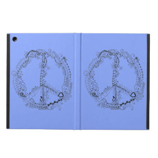 Hand Illustrated Artsy Floral Peace Sign iPad Air Cover