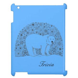 Hand Illustrated Artsy Floral Polar Bear Pen Art Case For The iPad 2 3 4
