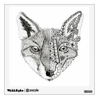 Hand Illustrated Artsy Fox Wall Sticker