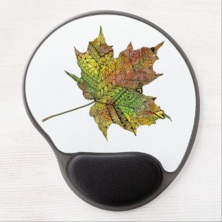 Hand Illustrated Artsy Maple Leaf Gel Mouse Pad