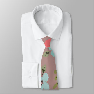 Hand Illustrated Floral Print Tie