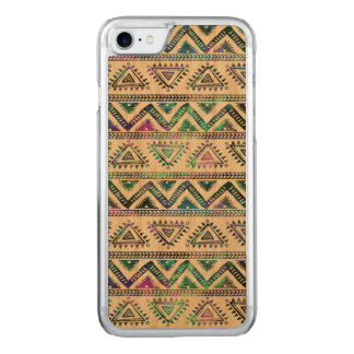 Hand Illustration Aztec Geometric Pattern Carved iPhone 7 Case