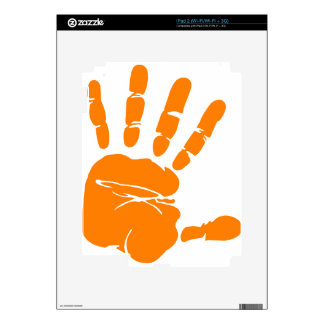 Hand impression skin for iPad 2