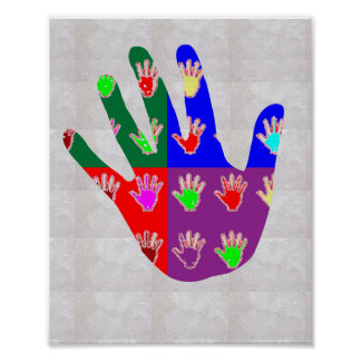 HAND in BLESSING: High5 HIGHfive cadeau pour tous Poster