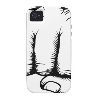 Hand in fist punching from front iPhone 4 covers