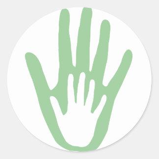 hand in hand classic round sticker