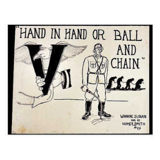 Hand In Hand Or Ball And Chain Postcard