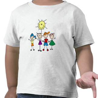 Hand in Hand Stick Figure Kids Tshirts and Gifts