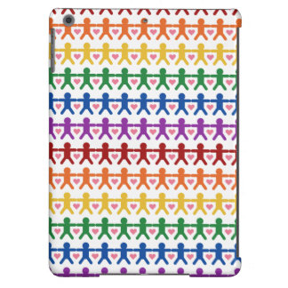 Hand in Hand with Love Pattern Art Case For iPad Air