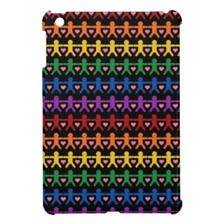 Hand in Hand with Love Pattern Art Cover For The iPad Mini