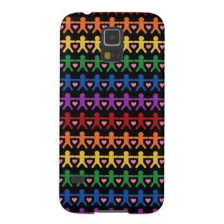 Hand in Hand with Love Pattern Art Galaxy S5 Case