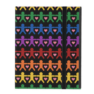 Hand in Hand with Love Pattern Art iPad Folio Cases