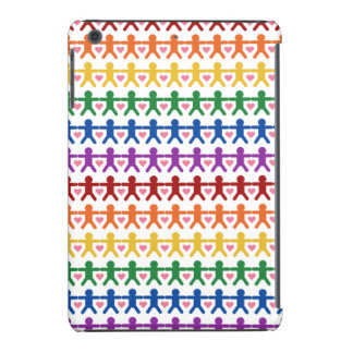 Hand in Hand with Love Pattern Art iPad Mini Case