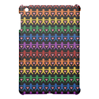 Hand in Hand with Love Pattern Art iPad Mini Covers