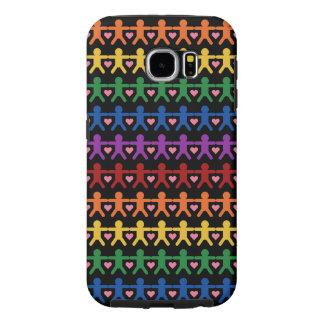 Hand in Hand with Love Pattern Art Samsung Galaxy S6 Case