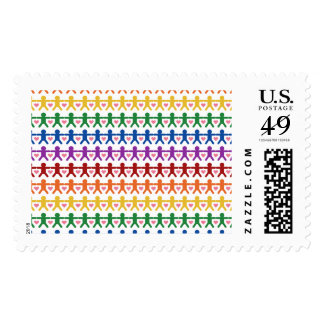 Hand in Hand with Love Pattern Art Stamps