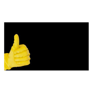 Hand in yellow latex glove Double-Sided standard business cards (Pack of 100)