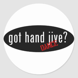 Hand Jive Items – got hand jive Classic Round Sticker