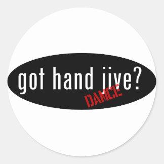 Hand Jive Items – got hand jive Round Stickers