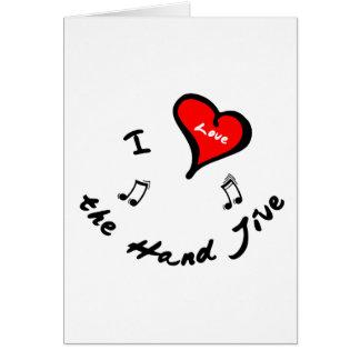 Hand Jive Items - I Heart the Hand Jive Greeting Card