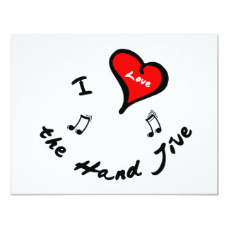 Hand Jive Items - I Heart the Hand Jive Personalized Announcements