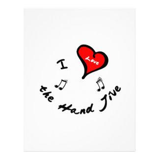 Hand Jive Items - I Heart the Hand Jive Custom Letterhead