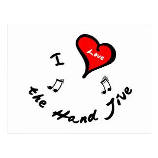 Hand Jive Items - I Heart the Hand Jive Postcard