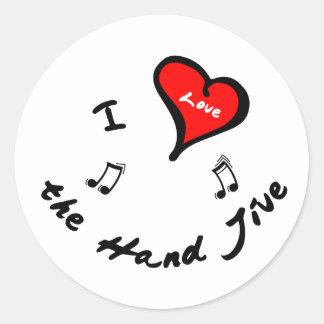 Hand Jive Items - I Heart the Hand Jive Stickers