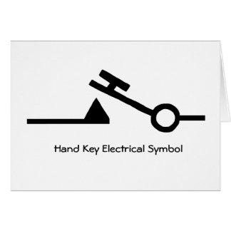 Hand Key Electrical Symbol Ham Radio Note Card