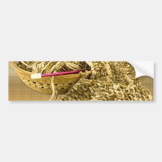 Hand Knit Chenille Yarn Bumper Sticker