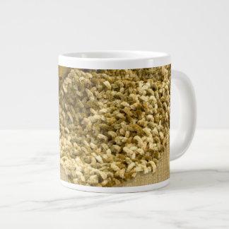 Hand Knit Chenille Yarn 20 Oz Large Ceramic Coffee Mug