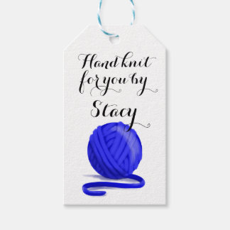 Hand Knit for You Personalized with Care Info Gift Tags