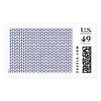 Hand Knit-Navy/White 1stClass 1oz Large Stamps