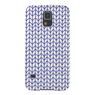 Hand Knit - Navy/White Case For Galaxy S5