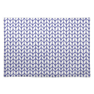Hand Knit - Navy/White Cloth Placemat