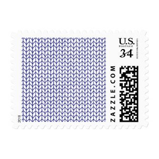 Hand Knit-Navy/White Postcard Stamps