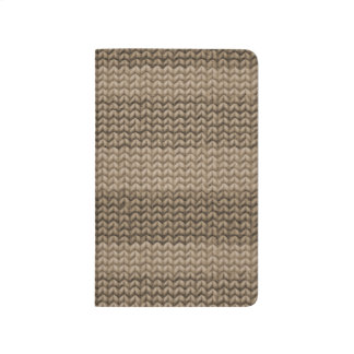 Hand knit Pocket Notebook - May - August 2015