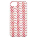Hand Knit Red/White iPhone 5C Case