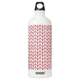 Hand Knit Red/White Water Bottle