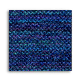 Hand knit square envelope - ultramarine - any size