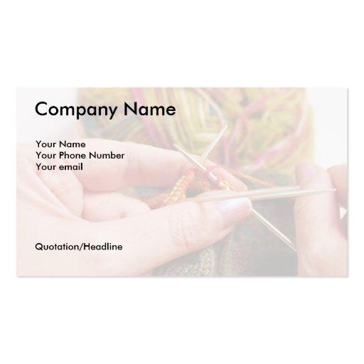 Hand-Knitter's Business Card
