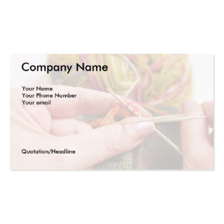 Hand-Knitter's Business Card