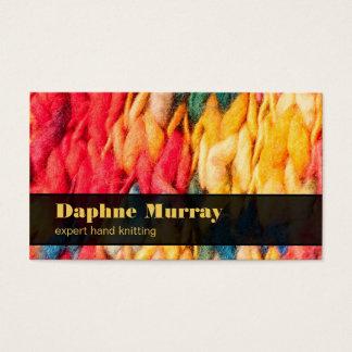 Hand Knitting Bright Colored Handspun Yarn Business Card