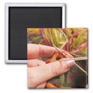 Hand Knitting Magnet