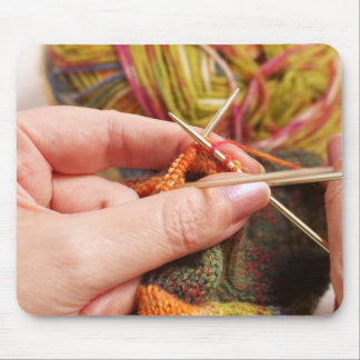 Hand Knitting Mouse Pad