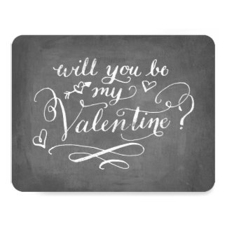 Hand Lettered Be My Valentine Chalkboard Card
