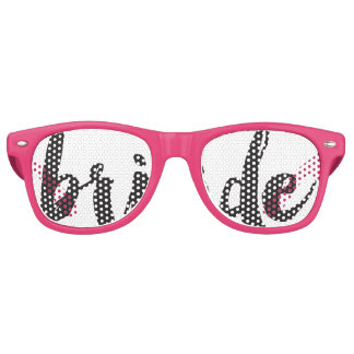 Hand Lettered Bride Swag Party Glasses Retro Sunglasses