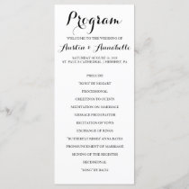 Hand Lettered Calligraphy Wedding Program